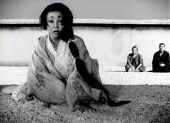 Machiko Kyo in Rashomon. Why is she crying? It depends.
